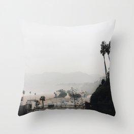 Santa Monica in Grey Throw Pillow