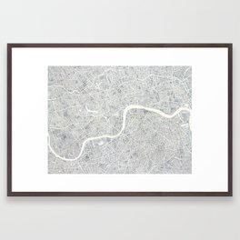 City Map London watercolor map Framed Art Print