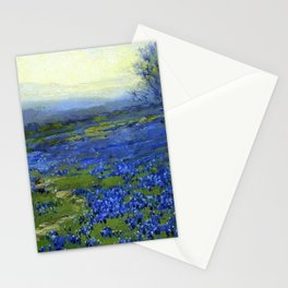 Meadow of Wild Blue Irises, Springtime by Maria Oakey Dewing Stationery Cards