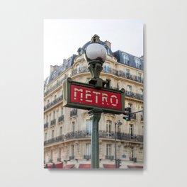 Paris Addiction Metal Print