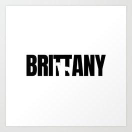 Britany Breed Lover dark Art Print