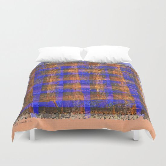 MADRONA TREE PLAID PATTERN Duvet Cover