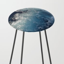 Ocean Waves Counter Stool