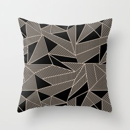 Geometric Abstract Origami Inspired Pattern Throw Pillow