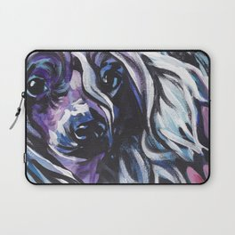 fun CHINESE CRESTED bright colorful Pop Art painting by Lea Laptop Sleeve
