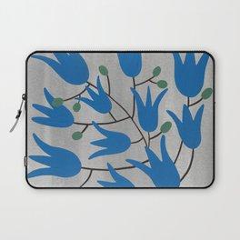 Blue Bell – Scandinavian folk art - Blue Bell Floral Laptop Sleeve