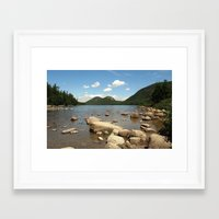 maine Framed Art Prints featuring Maine by Raymond Earley