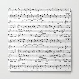 Musical Metal Print