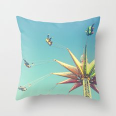 Flying Chairs at the Carnival Throw Pillow