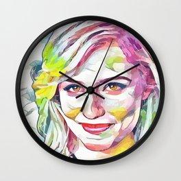 Dianna Agron (Creative Illustration Art) Wall Clock