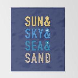 Fun In The Sun Throw Blanket