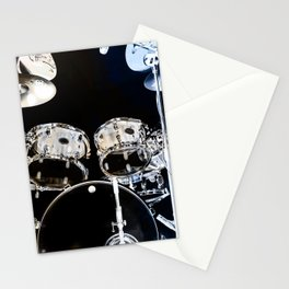 DRUMS BLUE AND GOLD Stationery Cards