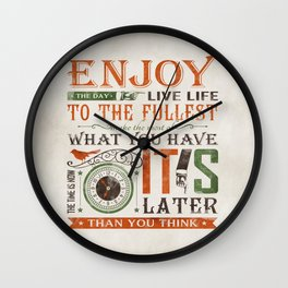 Now Is The Time Wall Clock