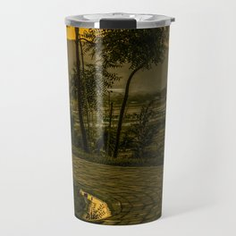 Tropical Landscape Sunset Scene Travel Mug