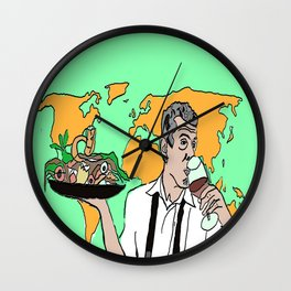 The colorful life of Anthony Bourdain Wall Clock