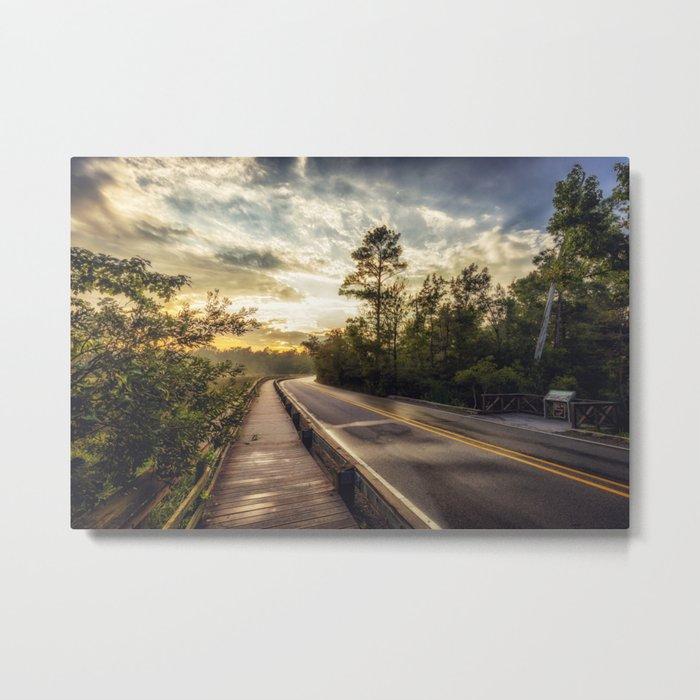 Gulf Islands Park Sunset Metal Print