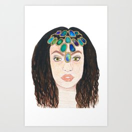 Jewelled Princess Art Print