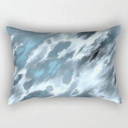 Blue animal print Rectangular Pillow