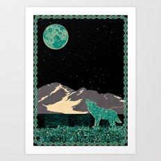 Wolf 5 Art Print