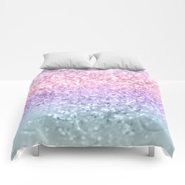 Unicorn Girls Glitter #1 #shiny #pastel #decor #art #society6 Comforters