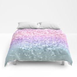 Unicorn Girls Glitter #1 #shiny #pastel #decor #art #society6 Comforters
