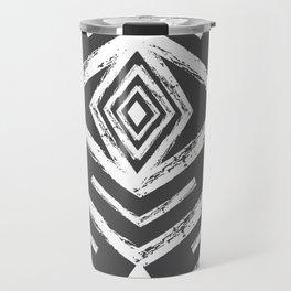 Black And White Abstract Pattern Travel Mug