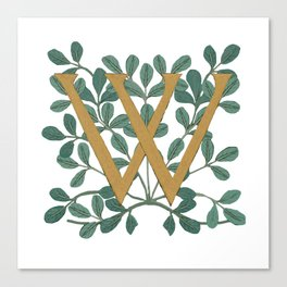 Forest Letter W Lite 2020 Canvas Print