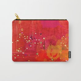 Red Abstract Art Collage Carry-All Pouch