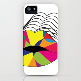 Hypnotizing Lips iPhone Case