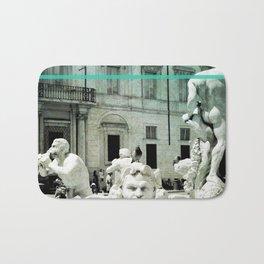 Neptune Fountain Rome Italy Bath Mat