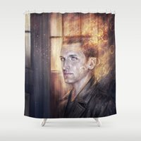 doctor Shower Curtains featuring Ninth Doctor by jasric