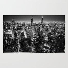Chicago Skyline at Night Rug