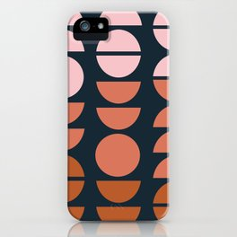 Modern Desert Color Shapes iPhone Case