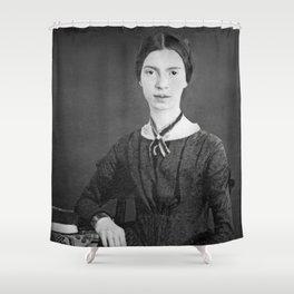 Emily Dickinson Portrait Shower Curtain