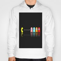 pac man Hoodies featuring Pac Man by Emma Kennedy