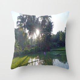 Philippine Rice Fields Throw Pillow