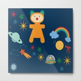 space teddy bear Metal Print