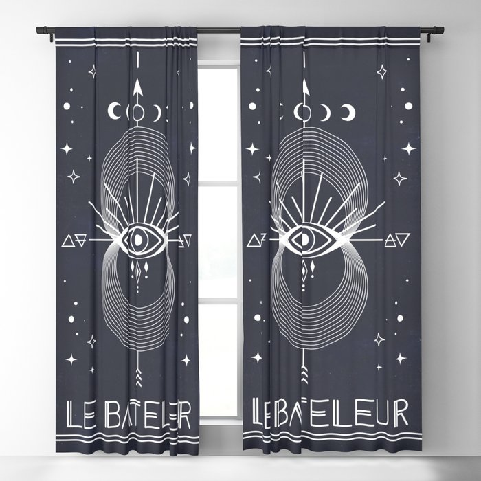 The Magician or Le Bateleur Tarot Blackout Curtain