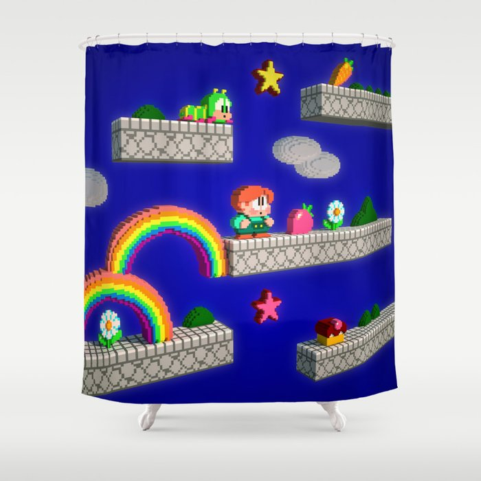 Inside Rainbow Islands Shower Curtain