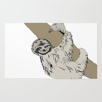 sloth Area & Throw Rugs featuring Sloth by caseysplace