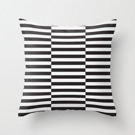 IKEA STOCKHOLM Rug Pattern - black stripe black Throw Pillow