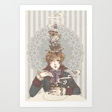 Tea Time, lad. Art Print