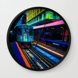 Brown Line Approaching Wall Clock