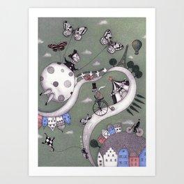 Travelling Art Print