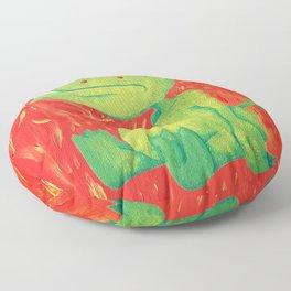 Little Green Demon Baby Floor Pillow