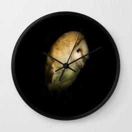 Barn Owl Portrait Wall Clock