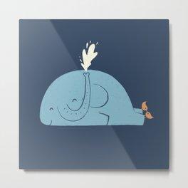 Whalephant Metal Print