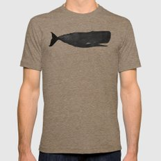 Whale LARGE Mens Fitted Tee Tri-Coffee