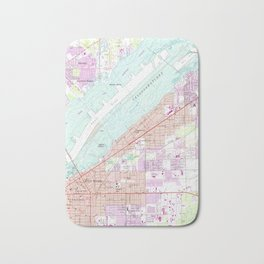 Vintage Map of Fort Myers Florida (1958) Bath Mat