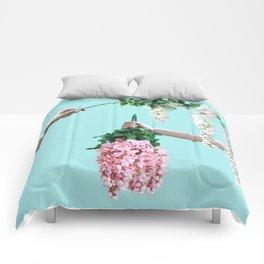 1992 Floral Episodes (Aqua) Comforters